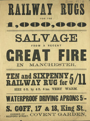 Advert for S Goff, railway and horse rugs